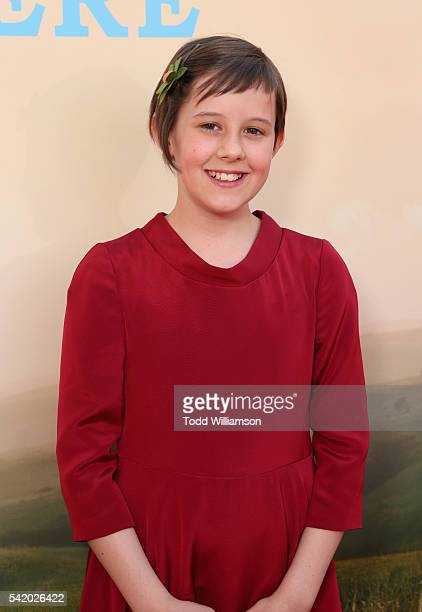 """Actress Ruby Barnhill attends Disney's """"The BFG"""" premiere at the El Capitan Theatre on June 21, 2016 in Hollywood, California."""