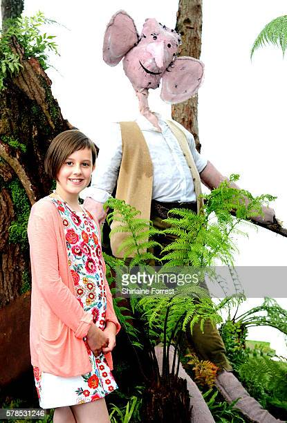 Actress Ruby Barnhill visits The Big Friendly Garden featuring her Dream Jar supporting Save The Children to celebrate the release of The BFG in...