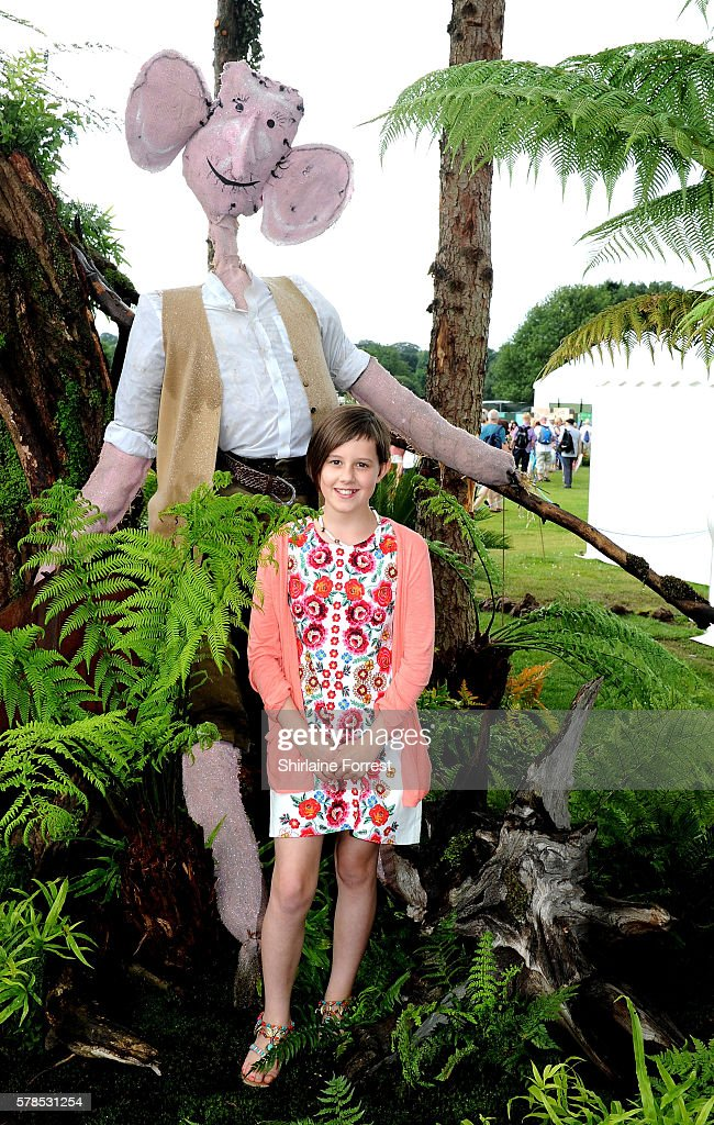 Actress Ruby Barnhill visits The Big Friendly Garden featuring her Dream Jar supporting Save The Children to celebrate the release of The BFG in which she plays Sophie, during the RHS Flower Show at Tatton Park on July 21, 2016 in Knutsford, England.