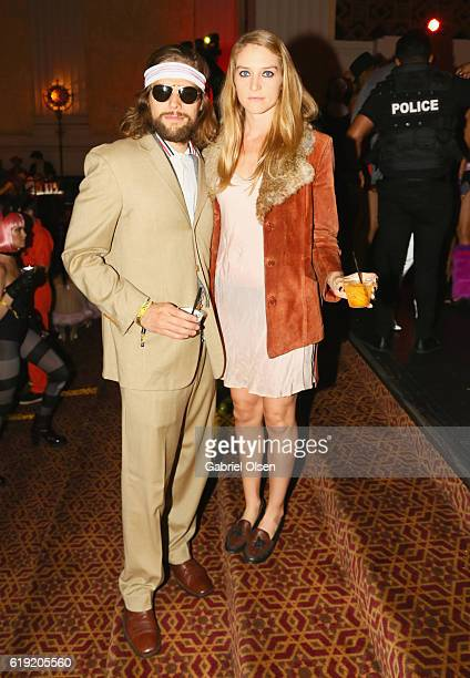 Actress Ruby Corley and Elkin Simpson attend Trick or treats The 6th Annual treats Magazine Halloween Party Sponsored by Absolut Elyx on October 29...