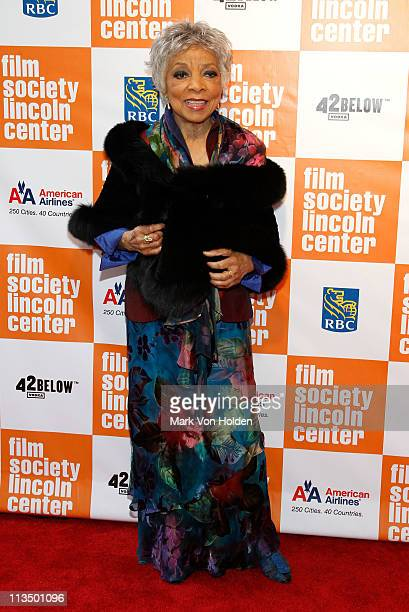 Actress Ruby Dee attends The Film Society of Lincoln Center's presentation of the 38th Annual Chaplin Award at Alice Tully Hall on May 2, 2011 in New...