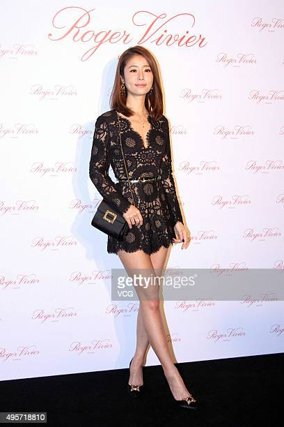 Actress Ruby Lin attends Roger Vivier commercial activity on November 4 2015 in Beijing China