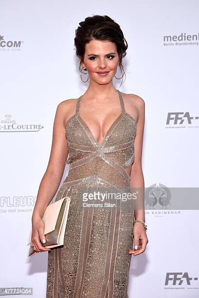 Actress Ruby O Fee arrives for the German Film Award 2015 Lola at Messe Berlin on June 19 2015 in Berlin Germany