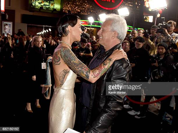 Actress Ruby Rose and producer Joe Roth arrive at the premiere of Paramount Pictures' 'xXx Return of Xander Cage' at the Chinese Theatre on January...