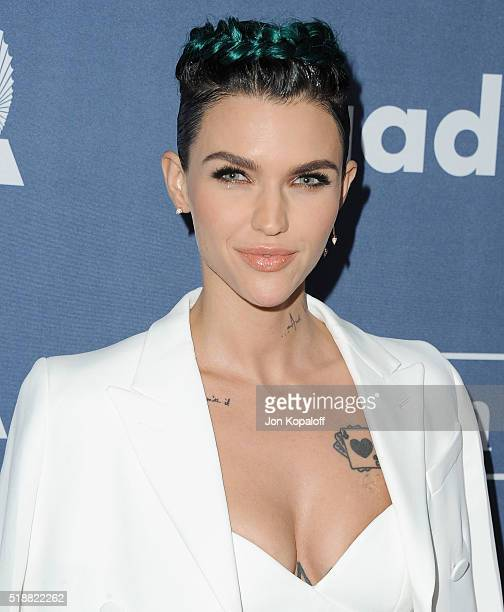 Actress Ruby Rose arrives at the 27th Annual GLAAD Media Awards at The Beverly Hilton Hotel on April 2 2016 in Beverly Hills California