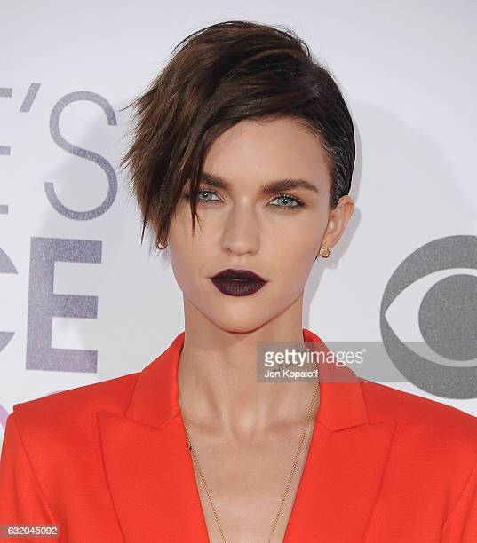 Actress Ruby Rose arrives at the People's Choice Awards 2017 at Microsoft Theater on January 18 2017 in Los Angeles California