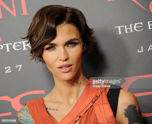 Actress Ruby Rose arrives at the premiere of Sony Pictures Releasing's Resident Evil The Final Chapter at Regal LA Live A Barco Innovation Center on...