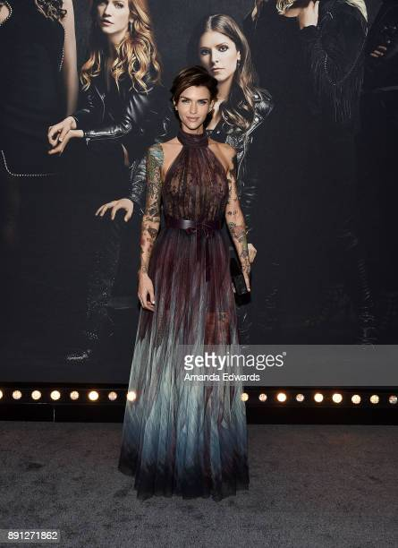 Actress Ruby Rose arrives at the premiere of Universal Pictures' 'Pitch Perfect 3' on December 12 2017 in Hollywood California