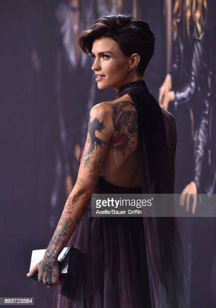 Actress Ruby Rose arrives at the premiere of Universal Pictures' 'Pitch Perfect 3' at Dolby Theatre on December 12 2017 in Hollywood California