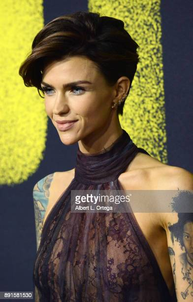 Actress Ruby Rose arrives for the Premiere Of Universal Pictures' 'Pitch Perfect 3' held at The Dolby Theater on December 12 2017 in Hollywood...