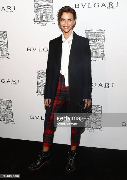 Actress Ruby Rose attends Bulgari 5th Avenue flagship store opening on October 20 2017 in New York City