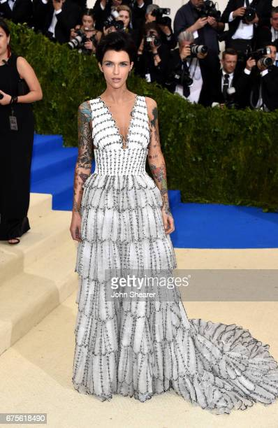 Actress Ruby Rose attends 'Rei Kawakubo/Comme des Garcons Art Of The InBetween' Costume Institute Gala at Metropolitan Museum of Art on May 1 2017 in...