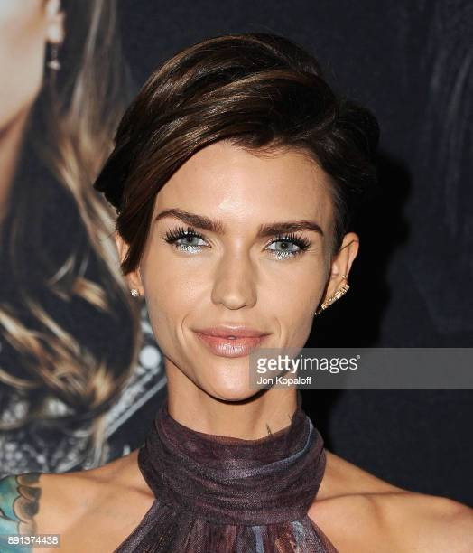 Actress Ruby Rose attends the Los Angeles Premiere 'Pitch Perfect 3' at the Dolby Theatre on December 12 2017 in Hollywood California