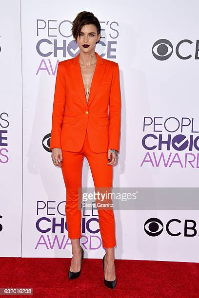 Actress Ruby Rose attends the People's Choice Awards 2017 at Microsoft Theater on January 18 2017 in Los Angeles California