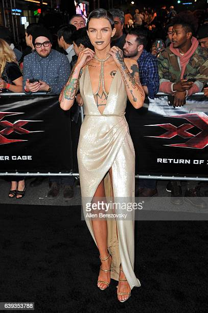 Actress Ruby Rose attends the Premiere of Paramount Pictures' 'xXx Return of Xander Cage' at TCL Chinese Theatre IMAX on January 19 2017 in Hollywood...