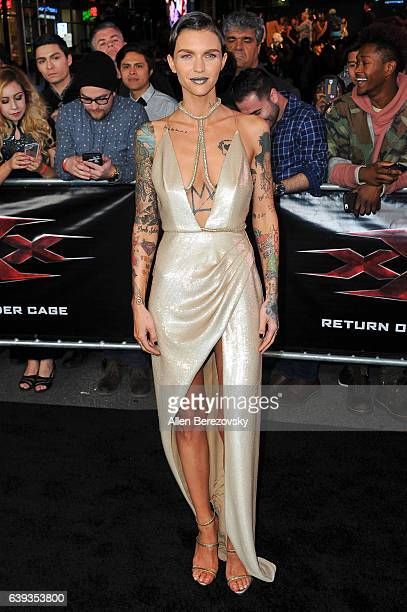 Actress Ruby Rose attends the Premiere of Paramount Pictures' xXx Return of Xander Cage at TCL Chinese Theatre IMAX on January 19 2017 in Hollywood...