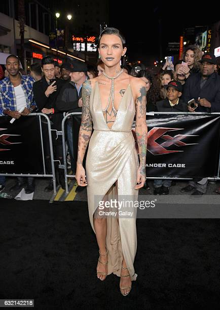 Actress Ruby Rose attends the LA Premiere of the Paramount Pictures title 'xXx Return of Xander Cage' at TCL Chinese Theatre IMAX on January 19 2017...