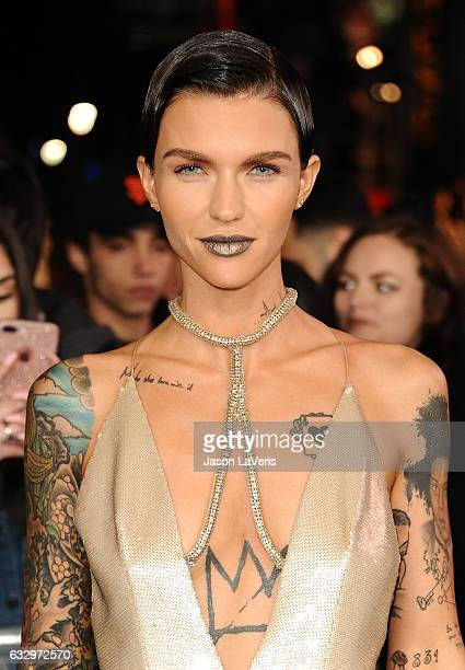 Actress Ruby Rose attends the premiere of 'xXx Return of Xander Cage' at TCL Chinese Theatre IMAX on January 19 2017 in Hollywood California
