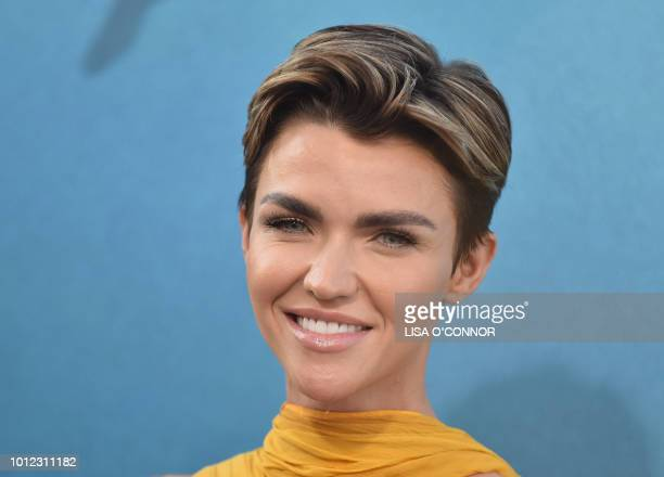 Actress Ruby Rose attends the US premiere of Warner Brothers Pictures The Meg in Los Angeles California on August 06 2018