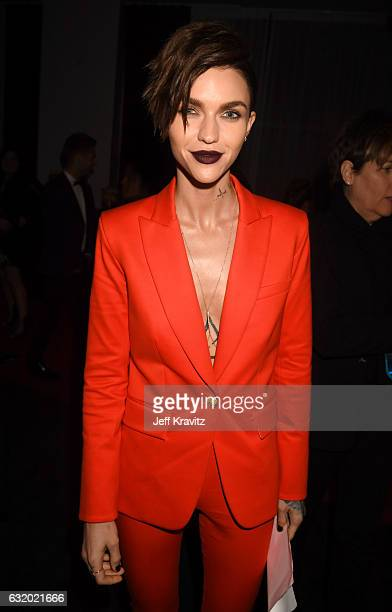 Actress Ruby Rose backstage at the People's Choice Awards 2017 at Microsoft Theater on January 18 2017 in Los Angeles California