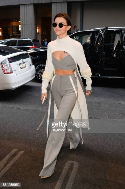 Actress Ruby Rose is seen walking in Midtwn on February 8 2017 in New York City
