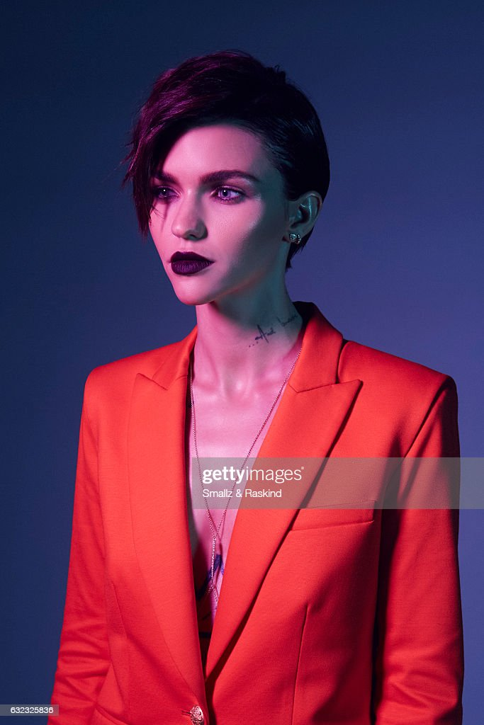 Actress Ruby Rose poses for a portrait at the 2017 People's Choice Awards at the Microsoft Theater on January 18, 2017 in Los Angeles, California.