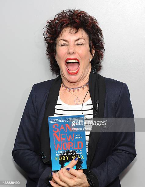 Actress Ruby Wax attends Live Talks Los Angeles presents Ruby Wax in Conversation with Carrie Fisher at Aero Theatre on November 11 2014 in Santa...