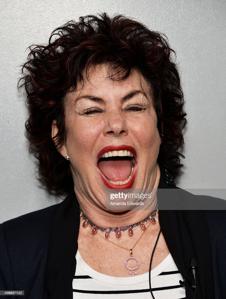Actress Ruby Wax attends the Live Talks Los Angeles Ruby Wax In Conversation With Carrie Fisher event at the Aero Theatre on November 11, 2014 in Santa Monica, California.