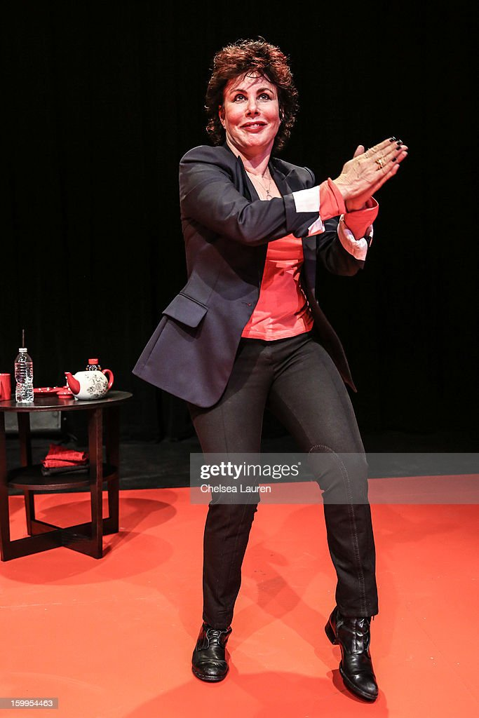 Actress Ruby Wax performs at 'Ruby Wax: Out of Her Mind' at The Broad Stage on January 23, 2013 in Santa Monica, California.