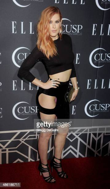 Actress Rumer Willis arrives at ELLE's 5th Annual Women In Music concert celebration at Avalon on April 22, 2014 in Hollywood, California.
