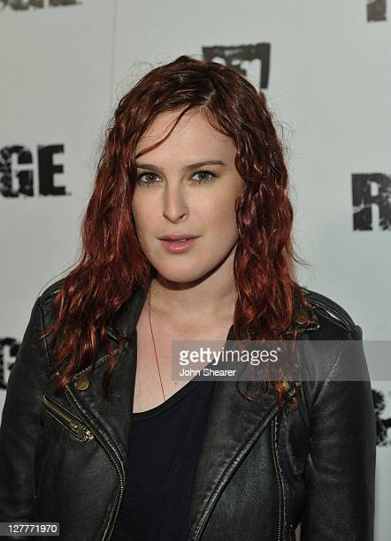 Actress Rumer Willis arrives at RAGE Official Launch Party at Chinatown's Historical Central Plaza on September 30 2011 in Los Angeles California