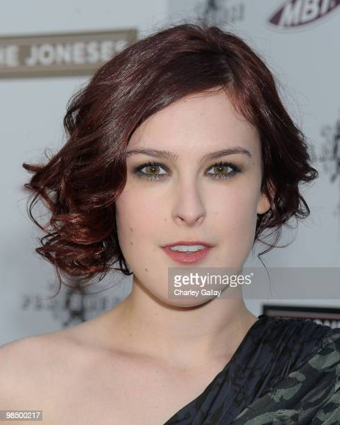 Actress Rumer Willis arrives at Roadside Attractions Echo Lake Entertainment's premiere of 'The Joneses' held at Arclight Hollywood Cinema on April 8...