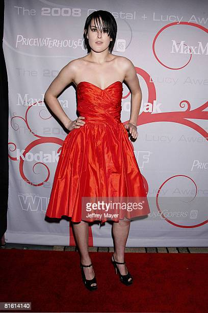 Actress Rumer Willis arrives at The 2008 Crystal Lucy Awards 'A Black And White Gala' on June 17 2008 at the Beverly Hilton Hotel in Beverly Hills...