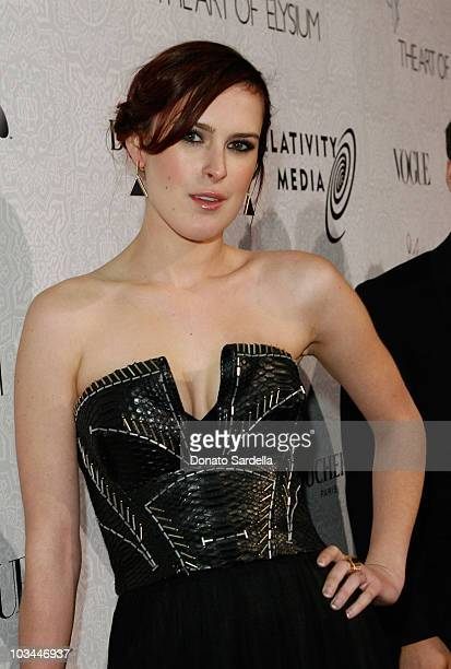 """Actress Rumer Willis arrives at The Art of Elysium's 3rd Annual Black Tie Charity Gala """"Heaven"""" on January 16, 2010 in Beverly Hills, California."""