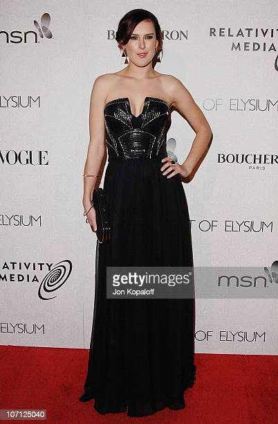 Actress Rumer Willis arrives at The Art of Elysium's 3rd Annual BlackTie Charity Gala Heaven at 9900 Wilshire Blvd on January 16 2010 in Beverly...