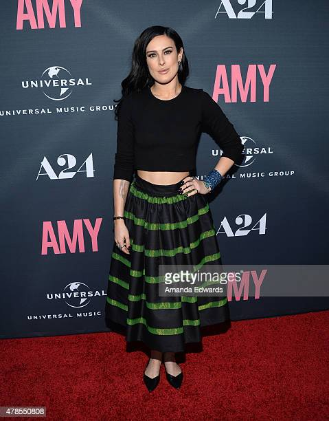 Actress Rumer Willis arrives at the premiere of A24 Films Amy at the ArcLight Cinemas on June 25 2015 in Hollywood California
