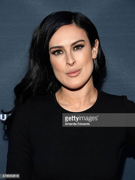 """Actress Rumer Willis arrives at the premiere of A24 Films """"Amy"""" at the ArcLight Cinemas on June 25, 2015 in Hollywood, California."""
