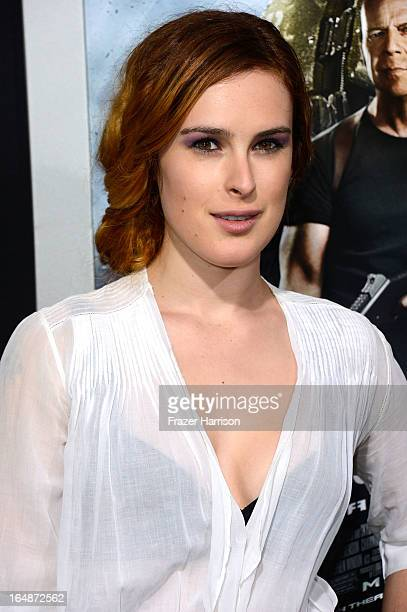 Actress Rumer Willis arrives at the Premiere of Paramount Pictures' GI Joe Retaliation at TCL Chinese Theatre on March 28 2013 in Hollywood California