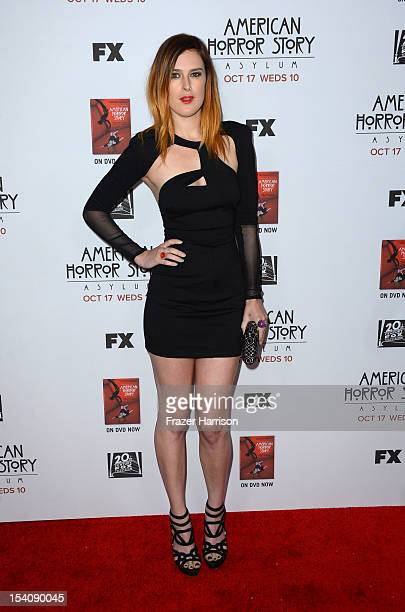 Actress Rumer Willis arrives at the Premiere Screening of FX's American Horror Story Asylum at the Paramount Theatre on October 13 2012 in Hollywood...