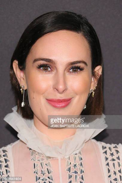 US actress Rumer Willis arrives for the Warner Bros and In Style 20th annual post Golden Globes party at the Oasis Courtyard of the Beverly Hilton...