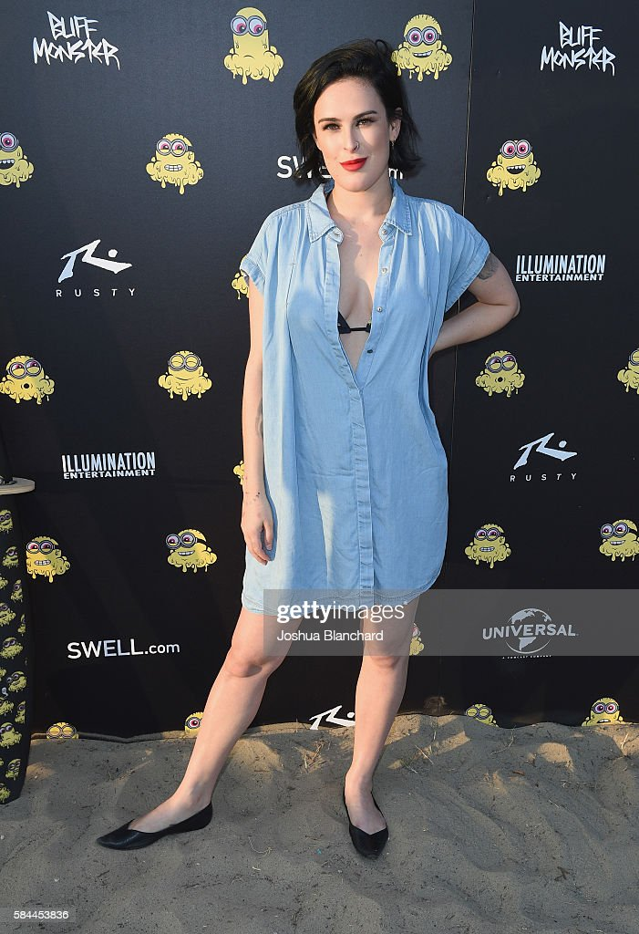 Actress Rumer Willis attends Buff Monster x Minions x Rusty Lost in Paradise Capsule Collection launch event on July 28, 2016 in Santa Monica, California.