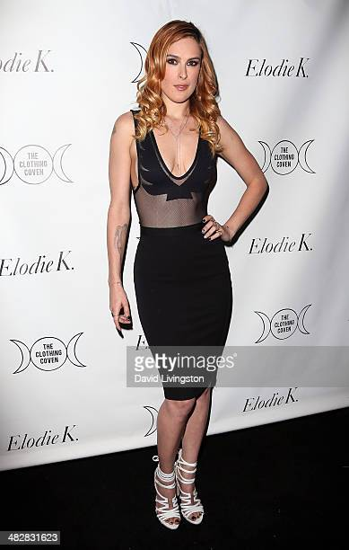 Actress Rumer Willis attends Tallulah Willis and Mallory Llewellyn celebrating the launch of their fashion blog 'The Clothing Coven' at Elodie K on...