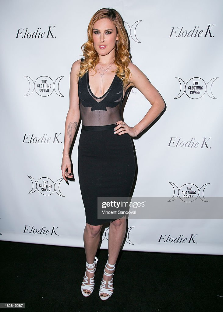 Actress Rumer Willis attends Tallulah Willis and Mallory Llewellyn celebrate the launch of their new fashion blog 'The Clothing Coven' at Elodie K. on April 4, 2014 in West Hollywood, California.