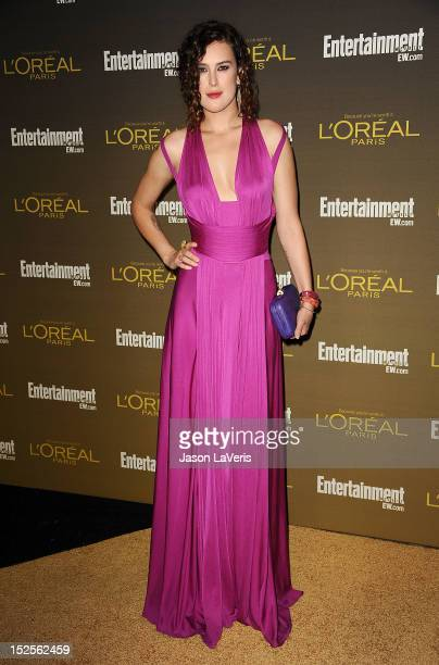Actress Rumer Willis attends the 2012 Entertainment Weekly preEmmy party at Fig Olive Melrose Place on September 21 2012 in West Hollywood California