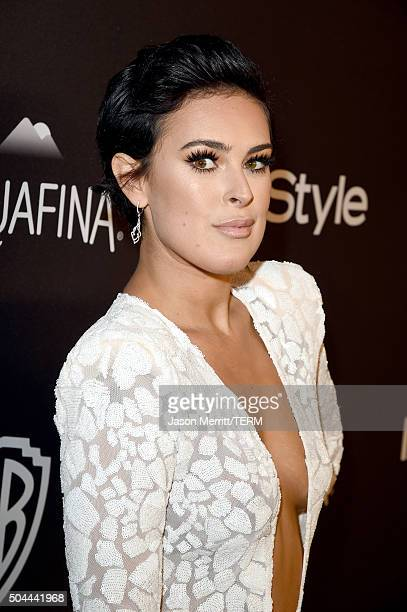 Actress Rumer Willis attends The 2016 InStyle And Warner Bros 73rd Annual Golden Globe Awards PostParty at The Beverly Hilton Hotel on January 10...