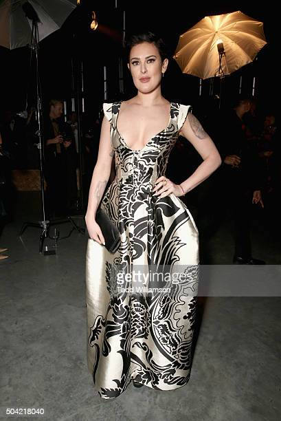 Actress Rumer Willis attends The Art of Elysium 2016 HEAVEN Gala presented by Vivienne Westwood Andreas Kronthaler at 3LABS on January 9 2016 in...