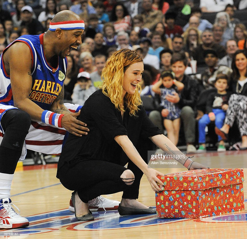 Actress Rumer Willis attends the Harlem Globetrotters 'You Write The Rules' 2013 tour game at Staples Center on February 17, 2013 in Los Angeles, California.
