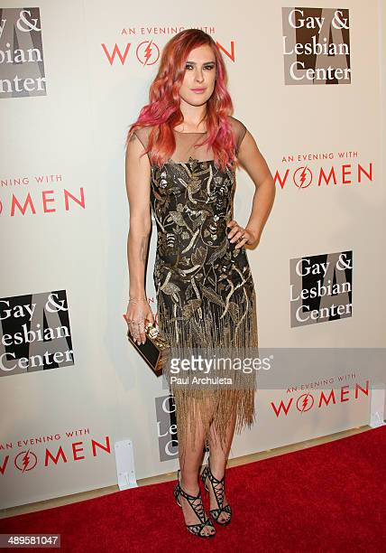 Actress Rumer Willis attends the L.A. Gay & Lesbian Center's 2014 An Evening With Women at The Beverly Hilton Hotel on May 10, 2014 in Beverly Hills,...