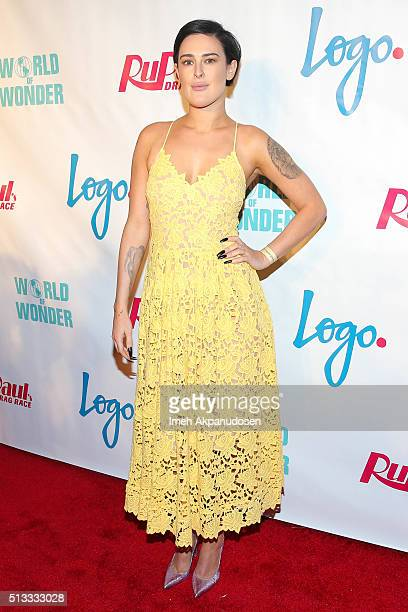 Actress Rumer Willis attends the premiere of Logo's 'RuPaul's Drag Race' season 8 at Mayan Theater on March 1 2016 in Los Angeles California