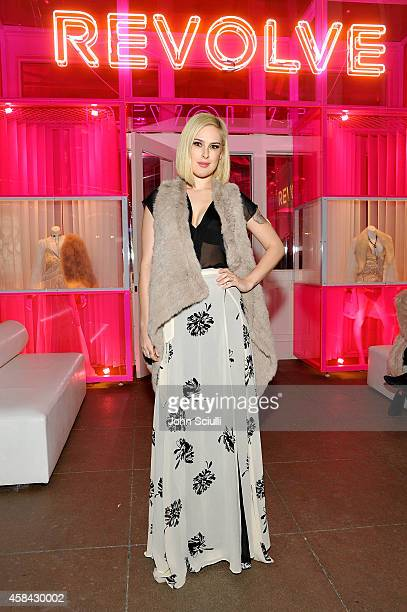 Actress Rumer Willis attends the REVOLVE PopUp Launch Party at The Grove on November 4 2014 in Los Angeles California